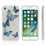 APPLE IPHONE 8 / 7 THE EYE CANDY CAPSULE COLLECTION BLUE BUTTERFLY