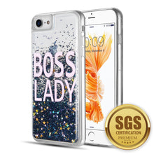 Load image into Gallery viewer, FOR IPHONE 8 / 7 / 6 PLUS WATERFALL LIQUID SPARKLING QUICKSAND TPU CASE - BOSS LADY
