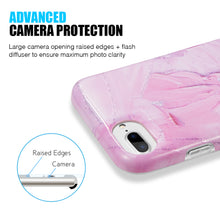 Load image into Gallery viewer, ARTISTRY COLLECTION FULL COVERAGE IMD MARBLE TPU CASE WITH GLITTER FOR IPHONE  - MAGENTA