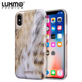 PREMIUM FURBULOUS COLLECTION APPLE IPHONE X ANIMAL FUR DESIGN MATTED TPU CASE - CAT LADY