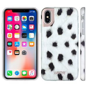 PREMIUM FURBULOUS COLLECTION APPLE IPHONE X ANIMAL FUR DESIGN MATTED TPU CASE - SPOTTIE DOTTIE