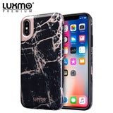 PREMIUM MARBLICIOUS COLLECTION APPLE IPHONE X MARBLE SHINE DESIGN UV COATED TPU CASE - BLACK ROSE MARBLE