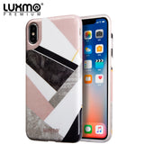 PREMIUM MARBLICIOUS COLLECTION APPLE IPHONE X MARBLE SHINE DESIGN UV COATED TPU CASE - GEOMETRIC MARBLE