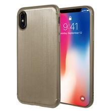 Load image into Gallery viewer, APPLE IPHONE X SOFT TPU CASE WITH SATIN FINISH SURFACE - GOLD
