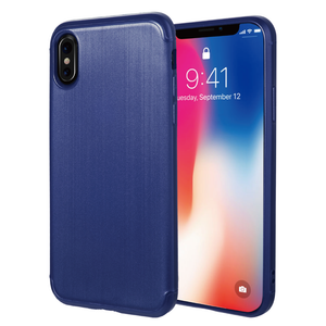 APPLE IPHONE X SOFT TPU CASE WITH SATIN FINISH SURFACE - NAVY BLUE