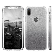 Load image into Gallery viewer, APPLE IPHONE X STARRY DAZZLE LUXURY TPU COVER CASE - SILVER BLACK