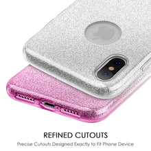 Load image into Gallery viewer, APPLE IPHONE X STARRY DAZZLE LUXURY TPU COVER CASE - SILVER PINK