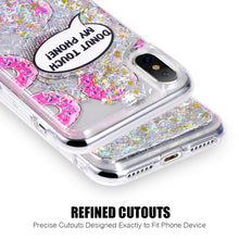 Load image into Gallery viewer, APPLE IPHONE X WATERALL LIQUID SPARKLING QUICKSAND TPU CASE - DONUTS