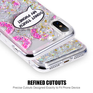 APPLE IPHONE X WATERALL LIQUID SPARKLING QUICKSAND TPU CASE - DONUTS