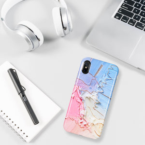 MARBLE TPU CASE WITH GLITTER FOR IPHONE