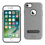 IPHONE 7/ 8 DENIM TEXTURE TPU PROTECTOR COVER IN GRAY