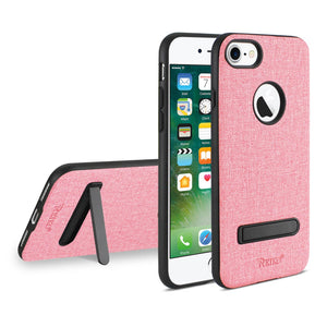 IPHONE 7/ 8 DENIM TEXTURE TPU PROTECTOR COVER IN PINK