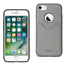 Load image into Gallery viewer, IPHONE 7/ 6/ 6S ANTI-SLIP TEXTURE PROTECTIVE COVER WITH CARD SLOT IN GRAY