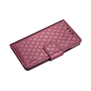 RHOMBUS WALLET CASE IN HOT PINK