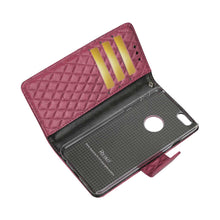 Load image into Gallery viewer, RHOMBUS WALLET CASE IN HOT PINK