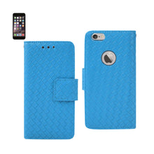 Load image into Gallery viewer, BRAIDED WALLET CASE IN BLUE