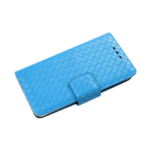BRAIDED WALLET CASE IN BLUE