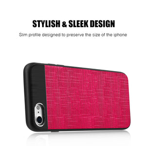 APPLE IPHONE 8/APPLE IPHONE 7 CRAFTMATE FUSION CANDY TPU WITH SOFT COTTON FINISH AND BUILT-IN MAGNETIC PLATE - HOT PINK