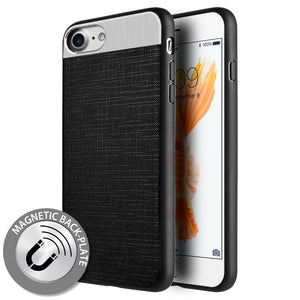 APPLE IPHONE 8/APPLE IPHONE 7 CRAFTMATE FUSION CANDY TPU WITH SOFT COTTON FINISH AND BUILT-IN MAGNETIC PLATE - BLACK