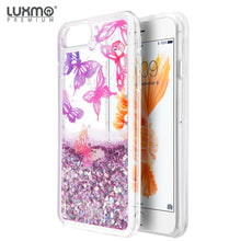 Load image into Gallery viewer, LUXMO APPLE IPHONE 8 /IPHONE 7 / IPHONE 6S / IPHONE 6 WATERFALL FUSION LIQUID SPARKLING QUICKSAND CASE - BUTTERFLY MELODY