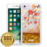 UXMO APPLE IPHONE 8 PLUS / IPHONE 7 PLUS / IPHONE 6S PLUS / IPHONE 6 PLUS WATERFALL FUSION LIQUID SPARKLING QUICKSAND CASE - FALLING AUTUMN