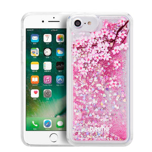 SPRING BLOSSOM WATER COLOR LIQUID GLITTER CASE