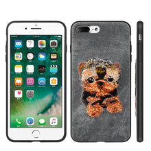 Load image into Gallery viewer, APPLE IPHONE 8/APPLE IPHONE 7 ADORABLES FUSION CANDY TPU PC CASE WITH EMBROIDERY PUPPIES DESIGN - YORKSHIRE