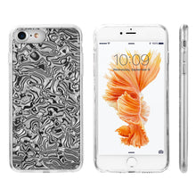 Load image into Gallery viewer, FOR IPHONE 8 / 7 / 6 THE SEASHELL FUSION CANDY CASE WITH DESIGN PATTERN - BLACK MOTHER OF PEARL
