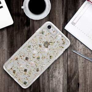 LUXMO PREMIUM THE SEASHELL SERIES FOR IPHONE 8 / 7 / 6 FUSION CANDY CASE WITH GOLD LEAF - GOLD