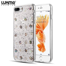 Load image into Gallery viewer, LUXMO PREMIUM THE SEASHELL SERIES FOR IPHONE 8 / 7 / 6 FUSION CANDY CASE WITH GOLD LEAF - Silver