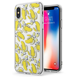 APPLE IPHONE X THE POP-EYE TRANSPARANT FUSION CANDY CASE - BANANA