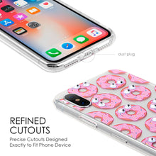 Load image into Gallery viewer, APPLE IPHONE X THE POP-EYE TRANSPARANT FUSION CANDY CASE - DONUTS