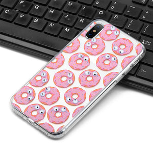 APPLE IPHONE X THE POP-EYE TRANSPARANT FUSION CANDY CASE - DONUTS