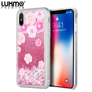 LUXMO APPLE IPHONE X WATERFALL FUSION LIQUID SPARKLING QUICKSAND CASE - LES PIVOINES