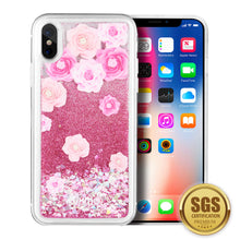 Load image into Gallery viewer, LUXMO APPLE IPHONE X WATERFALL FUSION LIQUID SPARKLING QUICKSAND CASE - LES PIVOINES