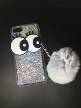 Load image into Gallery viewer, BIG EYE GLITTER POMPOM CASE