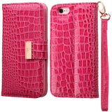 CROCODILE EMBOSSED MY JACKET CASE HOT PINK