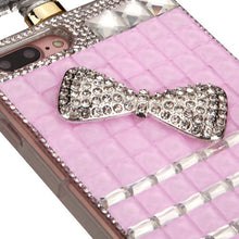 Load image into Gallery viewer, PINK BOW RHINESTONE CASE