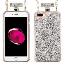 Load image into Gallery viewer, SILVER MINI DIAMANTE PERFUME BOTTLE CASE