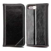 Load image into Gallery viewer, BLACK LEATHER WALLET CASE