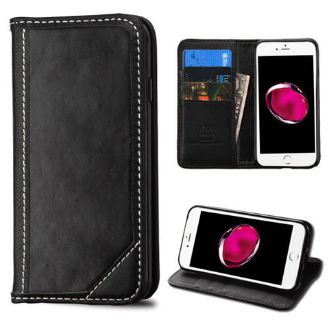 BLACK LEATHER WALLET CASE
