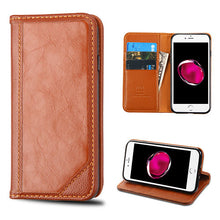 Load image into Gallery viewer, BROWN LEATHER WALLET CASE