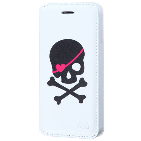 SKULL WHITE WALLET CASE