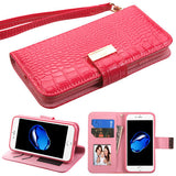 CROCODILE EMBOSSED MY JACKET CASE ELECTRIC PINK
