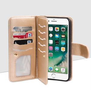 TIMBERLAND DOUBLE FLOP LEATHER PHONE HOLDER ROSE GOLD
