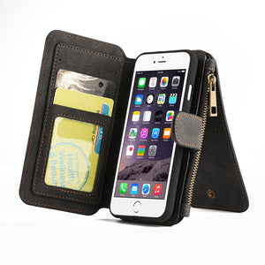 APPLE IPHONE LUXURY COACH SERIES LEATHER FLIP WALLET CASE