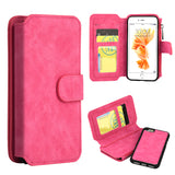 APPLE IPHONE 8 /APPLE IPHONE 7 LUXURY COACH SERIES FLIP WALLET CASE - HOT PINK