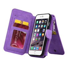 Load image into Gallery viewer, APPLE IPHONE 8/APPLE IPHONE 7 LUXURY COACH SERIES FLIP WALLET CASE - PURPLE
