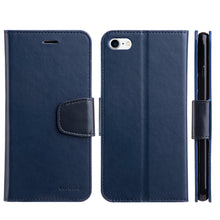 Load image into Gallery viewer, URBAN CLASSIC LEATHER WALLET CASE NAVY BLUE