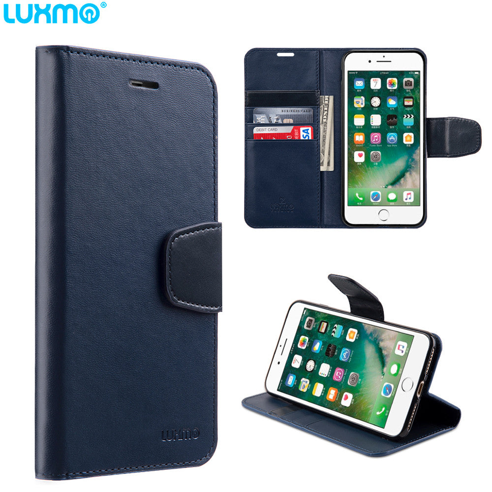 URBAN CLASSIC LEATHER WALLET CASE NAVY BLUE